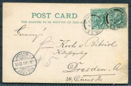 1903 GB  A.Hanff - Commission Agent - 16 Tenison Street York Road London SE Postcard - Dresden Germany