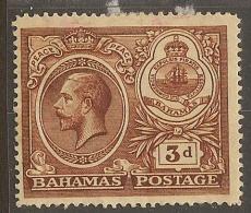 BAHAMAS 1920 3d Peace SG 109 HM YL224 - 1859-1963 Colonie Britannique