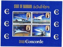 1976 CONCORDE Inauguration Flight Bahrain - London Souvenir Sheet  MUH  ** - Bahrain (1965-...)