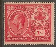 BAHAMAS 1920 1d Peace SG 107 HM YL222 - 1859-1963 Colonie Britannique