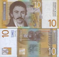 YUGOSLAVIA 10 DINARA 2000  P-153 UNC , ( ZA Series) Replacement - Joegoslavië