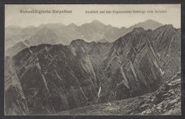 31097/ SIEBENBÜRGISCHE KARPATHEN, Ausblick Auf Das Fogarascher Gebirge Vom Netedul, 2 Scans - Roumanie