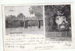 AK BURGENLAND LAJTAFALUN LAJTA BRÜCKE ,KASTELY OLD POSTCARD 1899 - Österreich