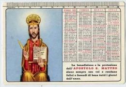 Calendarietto - Apostolo S. Matteo 1969 - Calendriers