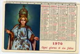 Calendarietto - Scuola Missionaria Gesu' Bambino S.antonio Abate Napoli 1970 - Calendriers