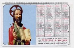Calendarietto - Apostolo S. Matteo 1971 - Calendari