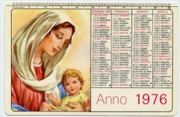 Calendarietto - Scuola Missionaria Gesu' Bambino S.antonio Abate Napoli 1976 - Calendari