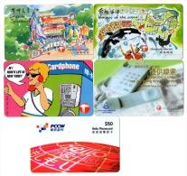 TELECARTES   HONG-KONG   (lot De 5 ) - Hong Kong