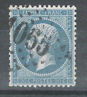 Empire N° 22 Obl GC 1055 De CLERY, Loiret, Indice 6, TB - 1862 Napoleon III