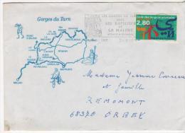 Envellopes Gorges Du Tarn Les Bateliers De La Malene 1995 Timbre Lamgues Orientales Pour Orbey - 1961-....