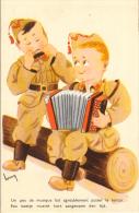 Accordeon  Harmonica  Music  Militair  Soldcher Signe  Henry   Illustrateur Artist Old  Postcard - Musique Et Musiciens
