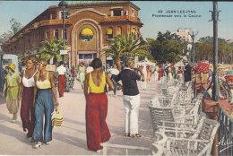 06.- JUAN-LES-PINS .- Promenade Vers Le Casino - Antibes