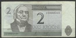 Estland Estonia 2 Kr 2006 REPLACEMENT NOTE ZZ Banknote Karl Ernst Von Baer Universität Dorpat Tartu - Estonia