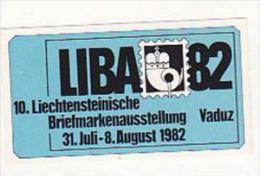 1982 COVER ´LIBA 82´ Stamps EXHIBITION LABEL, Switzerland Pro Patria Stamps - Erinnofilia