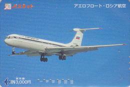 Carte Prépayée Japon - AVION AEROFLOT Russie Russia - Airplane Airline Japan Prepaid Card Flugzeug Passnet Karte - 431 - Airplanes