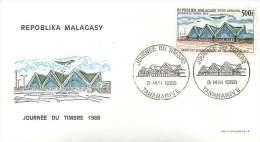 1968  Journée Du Timbre  Aéroport Interenational De Tananarive-Ivato  Poste Aérienne FDC - Madagaskar (1960-...)