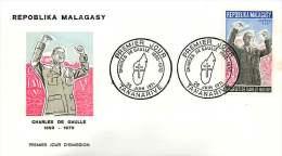 1971  Charles De Gaulle FDC - Madagascar (1960-...)