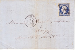 France Cover  1856 - 1862 Napoleon III
