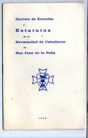 Decreto De Ereccion Y Estatutos De La Hermandad De Caballeros De San Juan De La Pena , 1950 , Frais Fr : 1.60€ - Books, Magazines, Comics