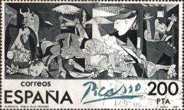 Espagne (tbre Du Bloc) Obl (Yv: 29) Yv:4,5 Euro Centenario De Picasso 1881 1993 El Guernica En España - Blocs & Hojas