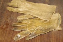 GANTS CUIR MARRON - Vintage Clothes & Linen