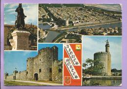 Dépt 30 - AIGUES MORTES - Multivues - Oblitérée En 1972 - Aigues-Mortes