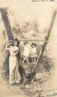 [DC8683] CARTOLINA CON LETTERA V - INVIA SALUTI AUGURI CON INIZIALE DEL TUO NOME - VIAGGIATA - USED 1904 - Nomi