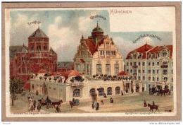 ALLEMAGNE - MÛNCHEN - MUNICH - JUDAISME - JUDAÏCA - 7132 - SYNAGOGE - LA SYNAGOGUE - éditeur  Stücker - Avant 1904 - Judaisme