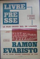 1950-1960 Affiche Perpignan Le Plus Grand Bal Grand Café Du Palmarium Ramon Evaristo Orchestre De Jazz Edit Imp Du Midi - Posters