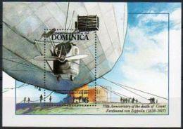 Dominique 1992 BF 226 ** 75e Anniversaire De La Mort Du Comte Gustave Von Zeppelin - Dirigeable - Dominique (1978-...)