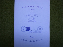 A2018) Buch Eisinsel T-3 Post über Grönland - Sehr Interessant - Handbücher