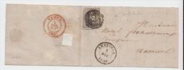 LETTRE (LSC)  DE ANNEVOYE  1856 ANNEVOIE POUR NAMUR + DISTRIBUTION 75 A VOIR TRES BEAU - Postmarks - Lines: Distributions