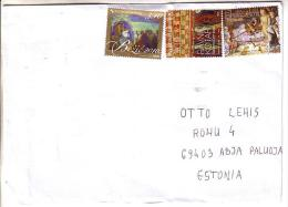 GOOD CROATIA Postal Cover To ESTONIA 2012 - Good Stamped: Art ; Christmas - Croatia