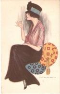 NANNI  -  ART DECO POSTCARD - WOMAN & CIGARETTE - Nanni