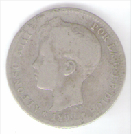 SPAGNA 1 PESETA 1899 ALFONSO XIII ARGENTO SILVER - [ 1] …-1931 : Regno