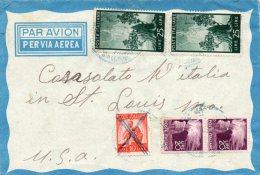 Italy 1949 Cover Mailed To USA - 6. 1946-.. Repubblica