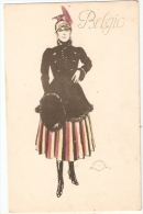 TERZI - ART DECO POSTCARD 1910s - WOMAN - BELGIUM - - Illustrateurs & Photographes
