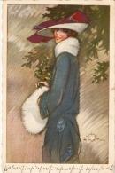 TERZI - ART DECO POSTCARD 1910s - WOMAN & RED HAT - DEGAMI 815 - Illustrators & Photographers