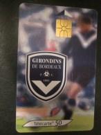 France Télécartes Carte Téléphoniques France Telecom 50 Unités Thème Sport Rugby Girondins De Bordeaux - Deportes