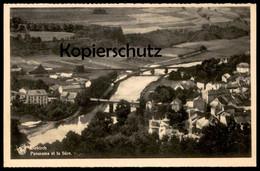 ALTE POSTKARTE DIEKIRCH PANORAMA ET LA SURE Luxemburg Luxembourg Nels Cpa Postcard Ansichtskarte AK - Diekirch