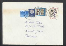 Nederland Airmail To Pakistan - Period 1980-... (Beatrix)