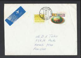 Nijmegen Four Days 75th Anniv. Airmail Nederland Airmail To Pakistan, - Period 1980-... (Beatrix)