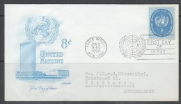 ENVELOPPE 1ER JOUR DES NATIONS UNIES N.Y. - SERIE COURANTE 1958 : N° Y&T 61 - Sin Clasificación