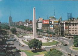 ARGENTINA POSTCARD BUENOS AIRES  AV. 0 DE JULIO 1970 VIAGGIATA AIR MAIL 2 X 26 PESOS CORREO AEREO - Argentina