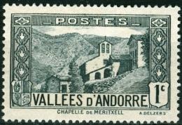ANDORRA, FRENCH COLONY, 1932-1943, FRANCOBOLLO NUOVO, SENZA GOMMA (MNG), Scott 23 - Andorre Français
