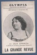 CABARET - CP OLYMPIA - LA GRANDE REVUE - REPRESENTATION DE LA JOLIE OTERIA LA REINE DE LA DANSE CLASSIQUE ESPAGNOLE - Cabarets
