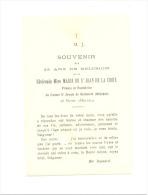 RELIGION - ROCHEFORT - Souvenir Des 25 Ans De Religion De La Réverende Mère Marie De St Jean 1889/1914 - Santini