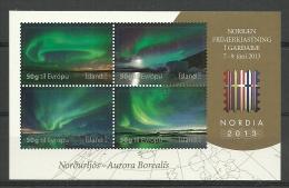 Ijsland 2013 Norden Aurora Borealis BF  *** - Blocks & Sheetlets