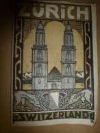 1912  Guide To ZURICH And ENVIRONS : - Tourisme