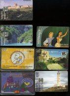 7 Différentes Télécartes Dont Une Disney France  Pocahontas  Phare Leuchtturm  Castel Chateau - Télécartes